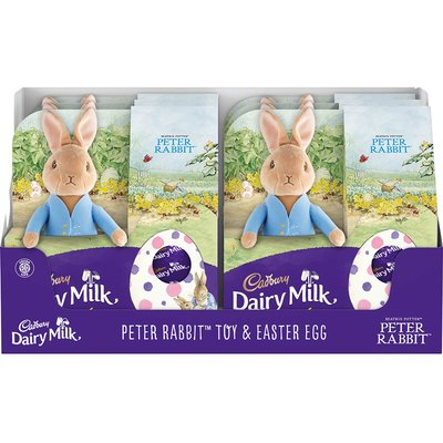 Peter Rabbit Toy Dairy Milk Easter Egg (Box of 6)