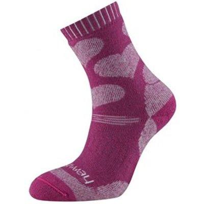 Sprayway Girls Trekking Sock - Hearts 12-3, Pink