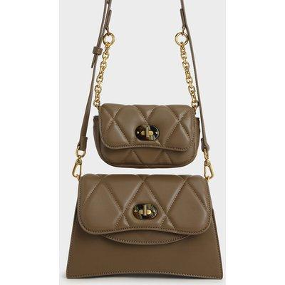 Padded Double Pocket Shoulder Bag