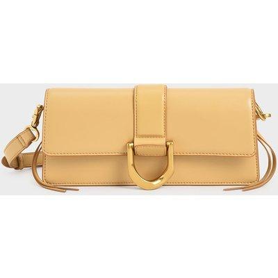 Metallic Buckle Shoulder Bag