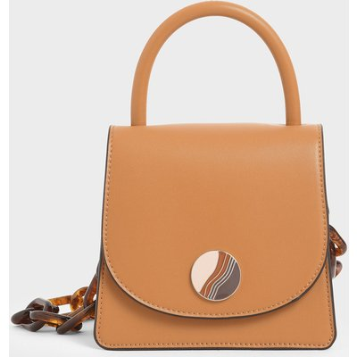 Tortoiseshell Chunky Chain Handle Mini Bag