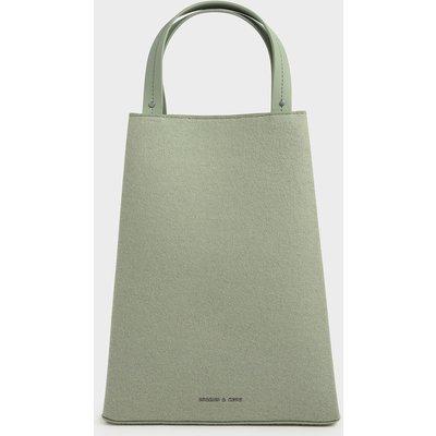 Elongated Felt Top Handle Bag