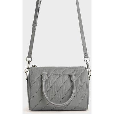 Nylon Panelled Tote Bag