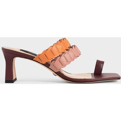 Leather Pleated Strap Mules