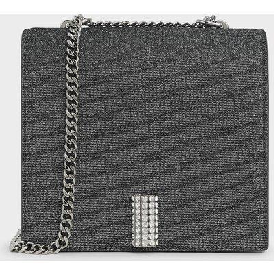 Glittered Square Crossbody Bag