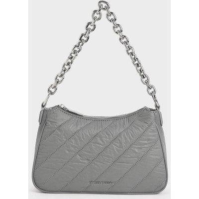 Panelled Chain Handle Crossbody Bag