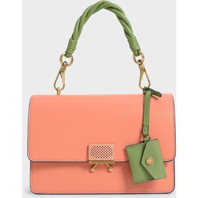 Twist Handle Shoulder Bag