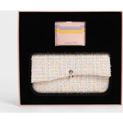 Gift Set: Tweed Shoulder Bag & Card Holder