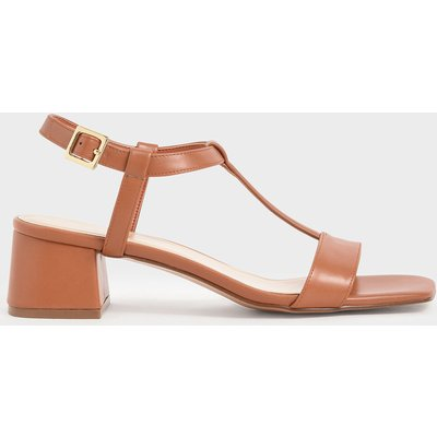 T-Bar Block Heel Sandals