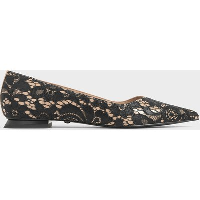 Patent Leather Lace Ballerina Flats