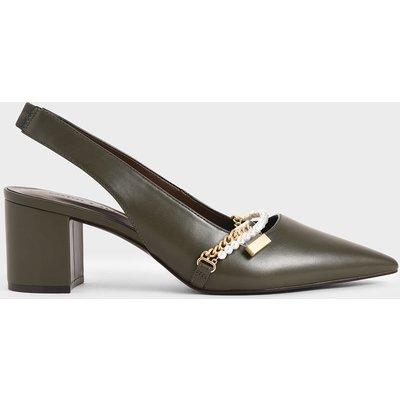 Embellished Slingback Court Shoes