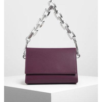 Chunky Chain Handle Crossbody Bag