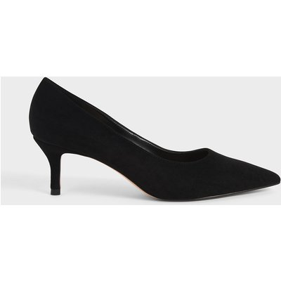 Textured Pointed Toe Court Shoes
