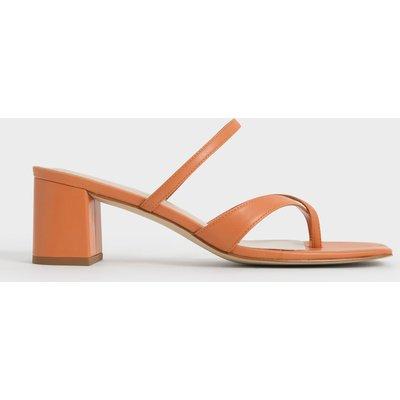 Block Heel Toe Loop Sandals