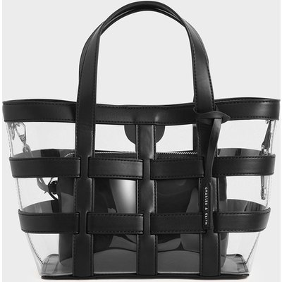Caged See-Through Tote Bag