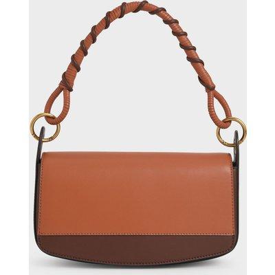 Coiled Top Handle Shoulder Bag