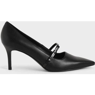 Mary Jane Stiletto Heel Court Shoes