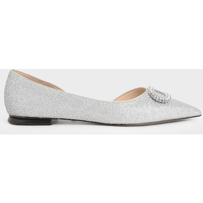 Wedding Collection: Embellished Glitter Ballerina Flats