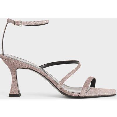 Glitter Sculptural Heel Sandals