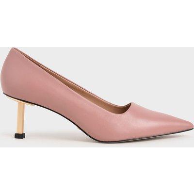 Leather Kitten Heel Court Shoes