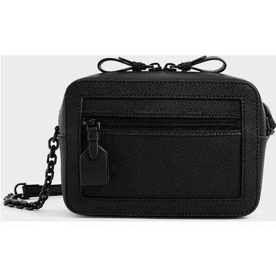 Two-Way Zip Shoulder Bag