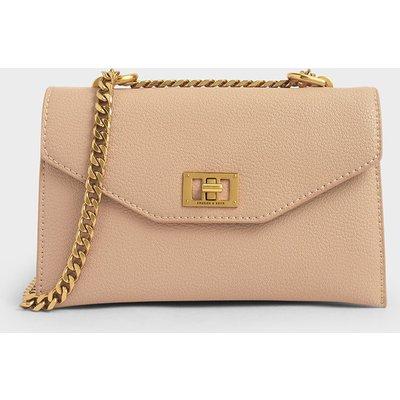 Turn-Lock Crossbody Bag