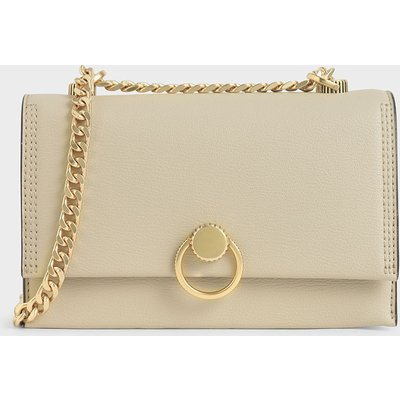 Ring Push-Lock Shoulder Bag