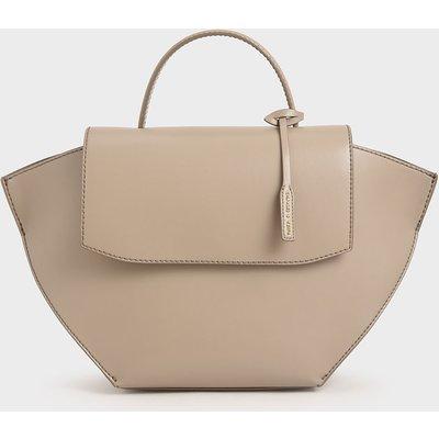 Geometric Top Handle Bag