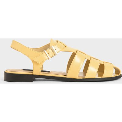 Patent Leather Caged Sandals