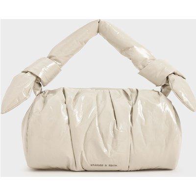 Patent Knotted Shoulder Bag