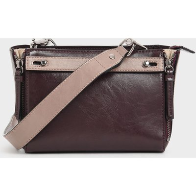 Two-Tone Rectangle Crossbody Bag