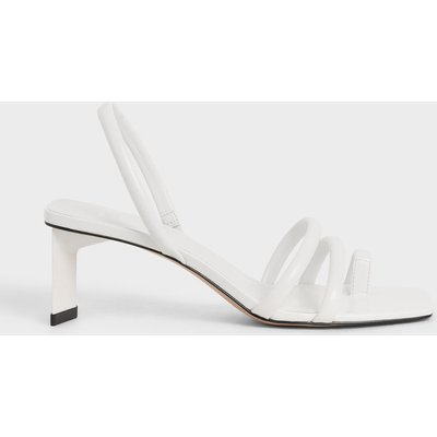 Toe Loop Strappy Slingback Heels