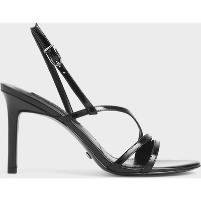 Patent Leather Strappy Heeled Sandals