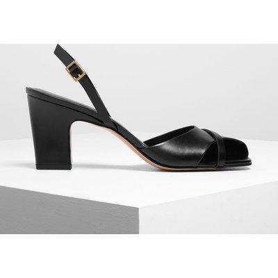Asymmetrical Peep Toe Heels