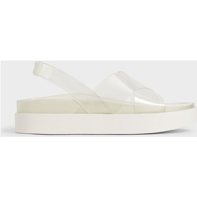 See-Through Effect Flatform Sandals