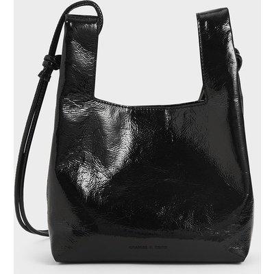 Patent Square Handle Tote Bag