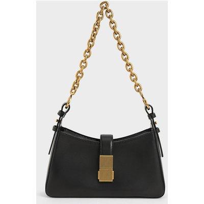 Chain Handle Shoulder Bag