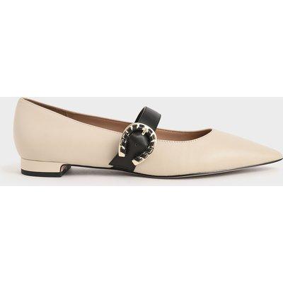 Leather Mary Jane Flats