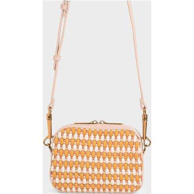 Multicoloured Woven Crossbody Bag