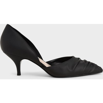 Ruched D'Orsay Court Shoes