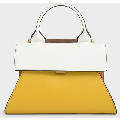 Small Two-Tone Sculptural Bag