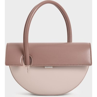 Top Handle Semi-Circle Bag
