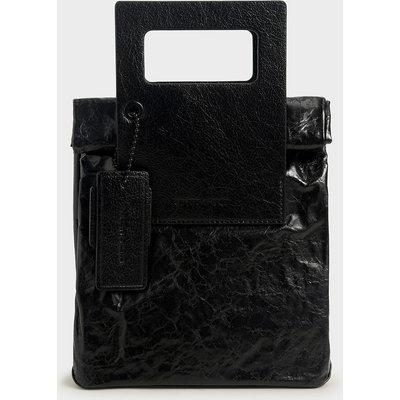 Crumpled-Effect Tote Bag