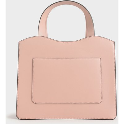 Front Pocket Double Top Handle Bag