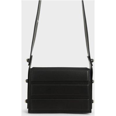 Eyelet-Embellished Top Handle Bag