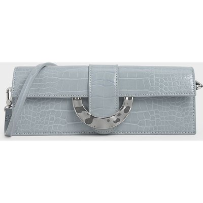 Croc-Effect Long Clutch