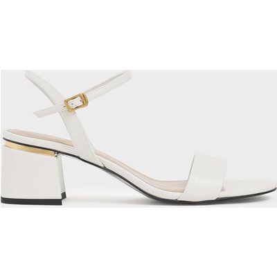 Open Toe Ankle Strap Block Heel Sandals