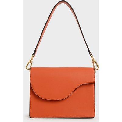 Angular Flap Shoulder Bag