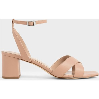 Criss Cross Block Heel Sandals