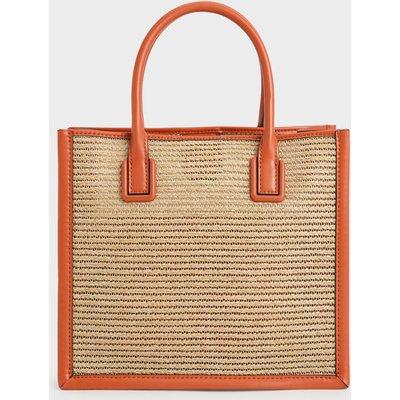 Raffia Double Handle Tote Bag